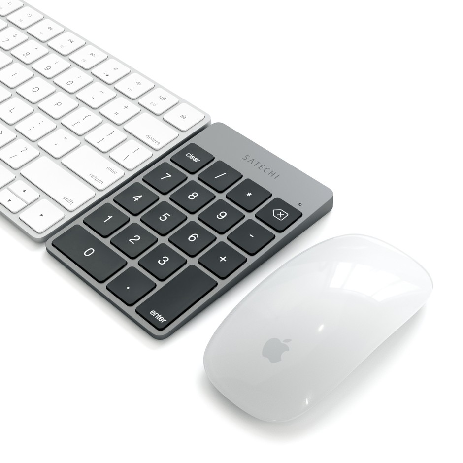 Satechi Slim Rechargeable Aluminum Bluetooth Keypad - Space Gray - New