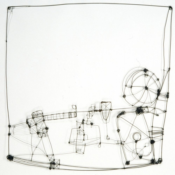 BARBARA GILHOOLY : SCULPTURE : Wire Drawings
