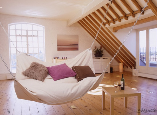 Le Beanock contemporary furniture twist on beanbag and hammock ($200-500) - Svpply