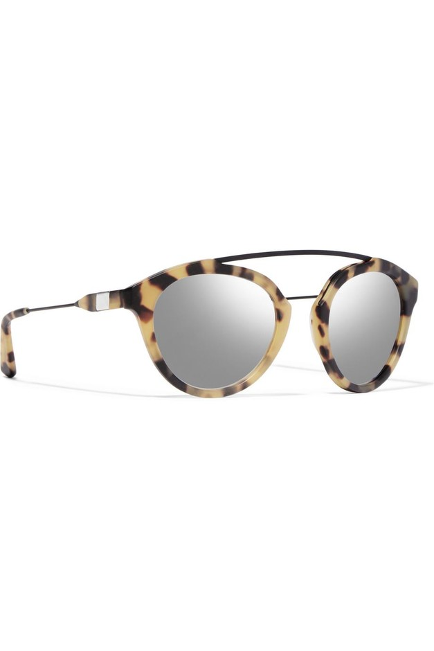 Westward Leaning | Flower 1 aviator-style matte-acetate and metal mirrored sunglasses | NET-A-PORTER.COM