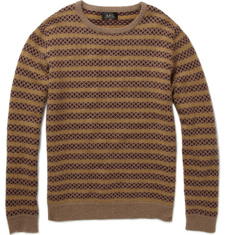 A.P.C.Jacquard Knit Lambswool Sweater|MR PORTER