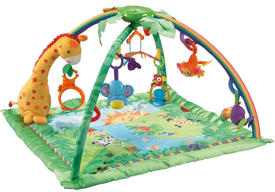 Childrens Activity & Learning Gym ? Rainforest Melodies & Lights Deluxe Baby Gym