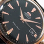 FS Orient Bambino, rose gold, black leather - ER24001B