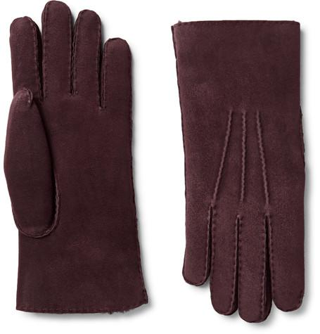 Loro Piana - Water-Resistant Shearling Gloves