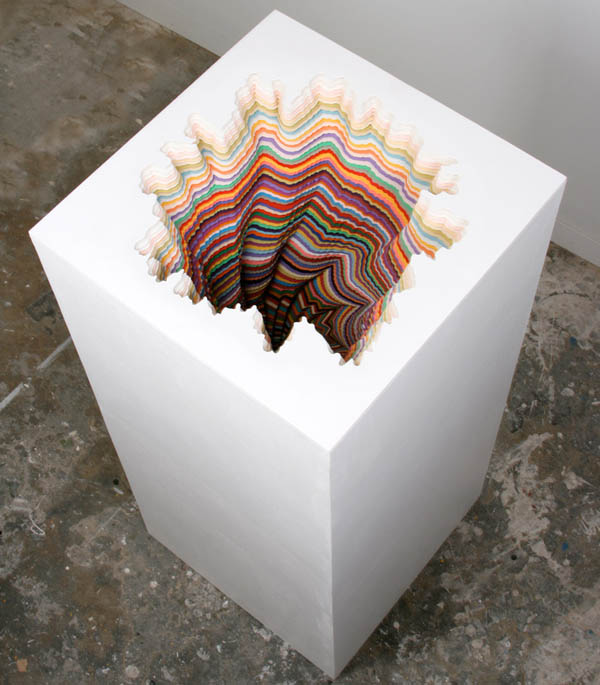 A Rainbow of Hand-Cut Paper Sculptures