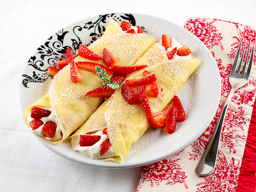 Strawberry White Chocolate Mousse Crepes   Baking and Cooking Blog - Evil Shenanigans