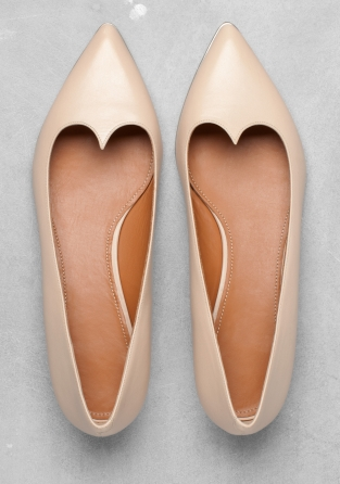 Leather Ballerinas | Nude | & Other Stories