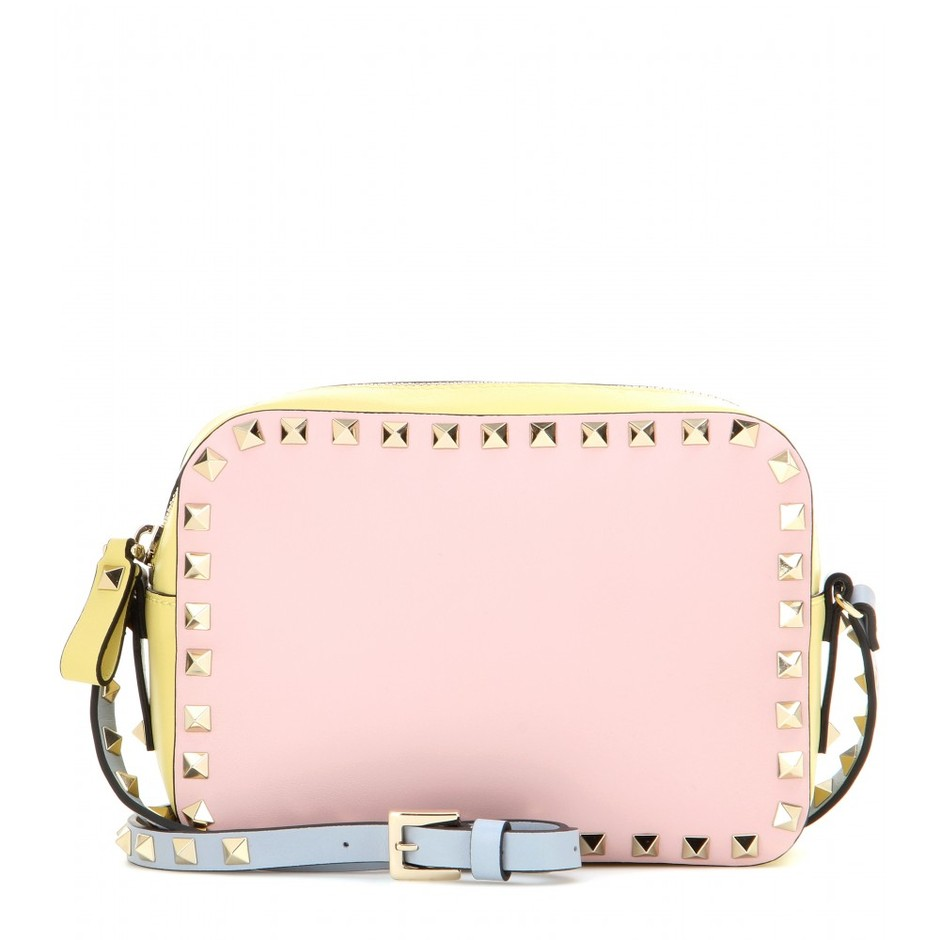 mytheresa.com - Rockstud leather cross-body bag - Shoulder bags - Bags - Valentino - Luxury Fashion for Women / Designer clothing, shoes, bags
