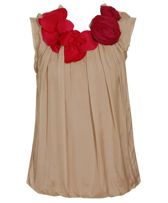 Browns fashion & designer clothes & clothing | LANVIN | Silk and jersey top with corsage neckline