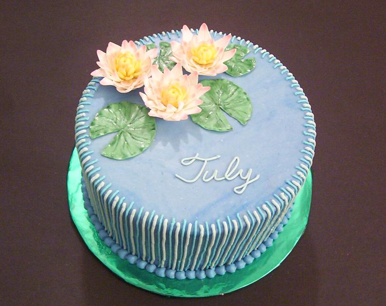 Birth Flower Cake For July ~Water-lily~ : Ninucake Decorating Laboratory