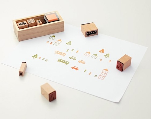 Town stamp set by Muji | Bambino Goodies