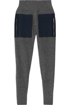 Stella McCartney Wool and cashmere-blend tapered pants NET-A-PORTER.COM