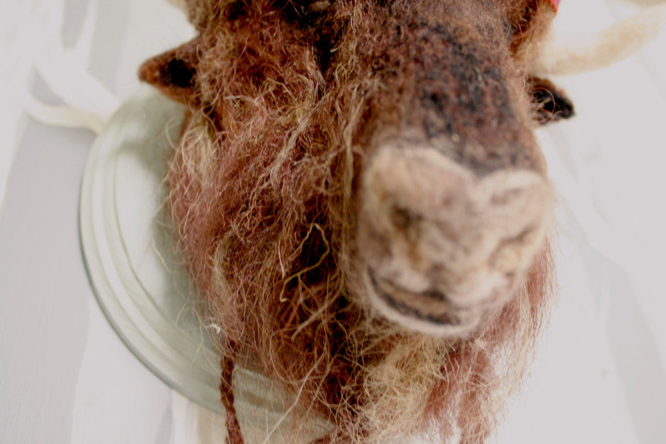 Needle Felted Bison Taxidermy by Stacie013 on Etsy