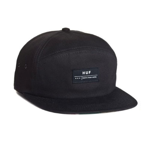 HUF - DEATH FROM ABOVE 6 PANEL VOLLEY (Black) - Growth skateboard elements