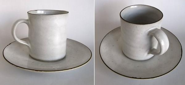 Lucie Rie / Coffee Cup&Saucer /White - organ-online.com
