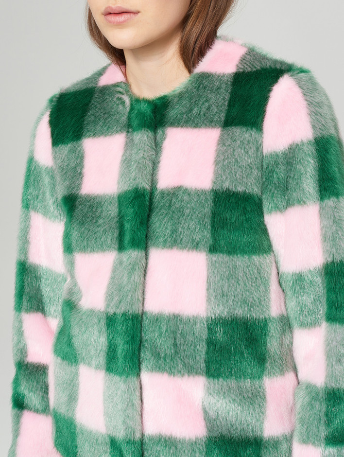 Sofia Jacket Emerald/L Pink | STAND Official