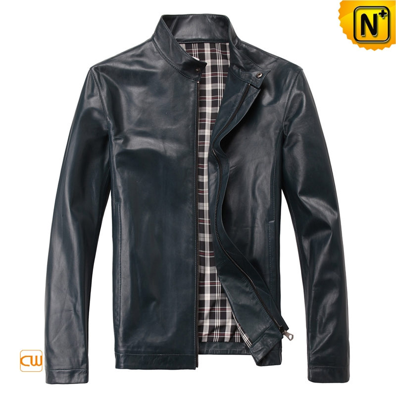 Men's Casual Slim Fit Motorcycle Leather Jackets CW812206   CWMALLS