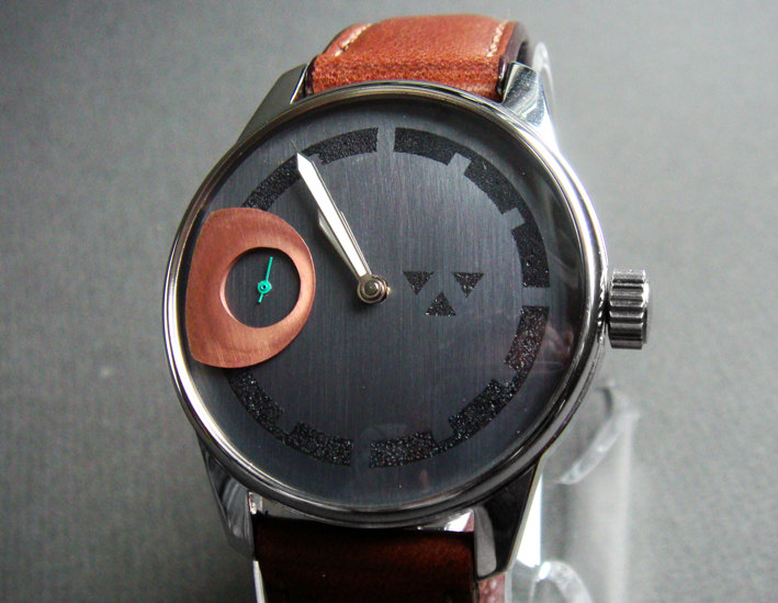 Wristwatch in Stainless Steel with handcrafted by wilkwatchworks