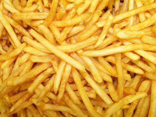 delicious, food, french fries, love, yellow - inspiring picture on Favim.com on we heart it / visual bookmark #10351212