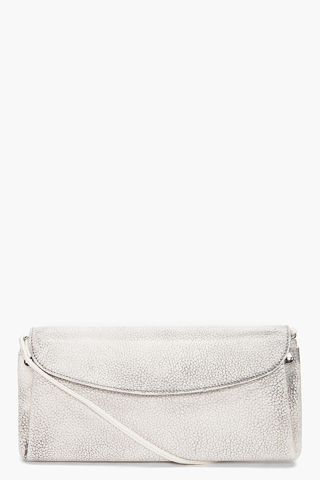 Maison Martin Margiela Marked Ivory Strap Wallet for women | SSENSE