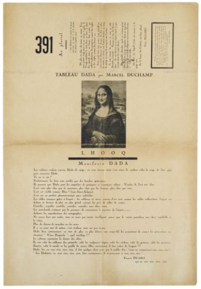 Archives Dada, Francis Picabia, in 391, n°12, mars (march) 1920,...