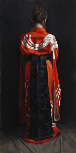 Black Obi II - Oil on linen