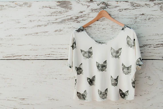 Kitty Cat Tee by leahgoren on Etsy