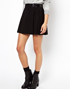 ASOS | ASOS Mini Skirt with Pleats at ASOS