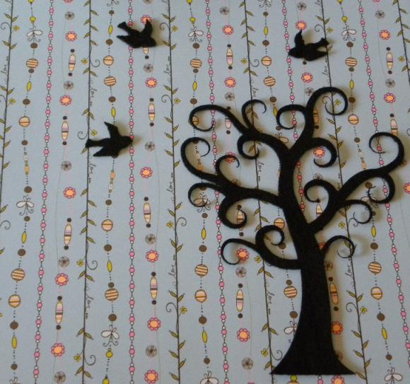 Curly Tree With 5 Birds | Luulla