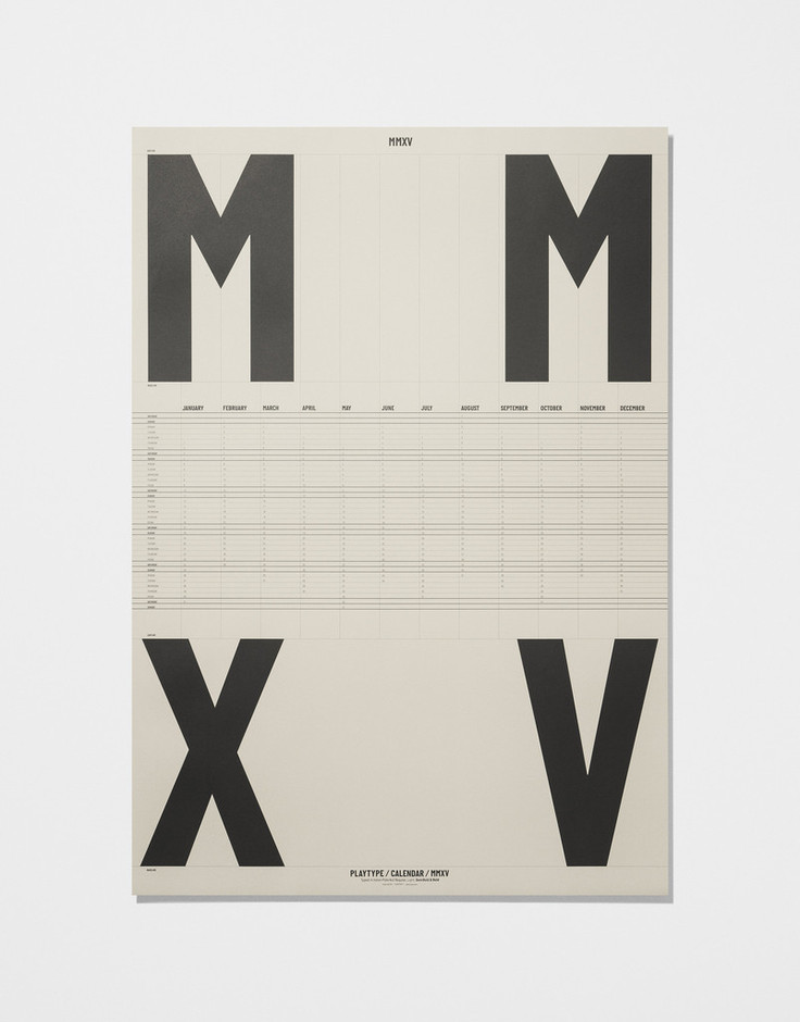 Calendar Poster 2015 — Ivory   Playtype Concept Store