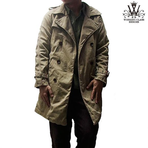 VINTAGE TRENCH COAT (BEIGE CHINO)