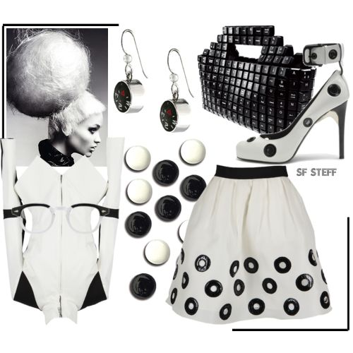 João Sabino nylon bag - Fashion Trends in Black and White at ELLE.com - Fashion Trends for Spring