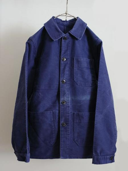 -LILY1ST VINTAGE- 1950's french moleskin coverall - FLORAISON