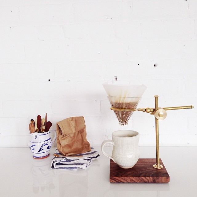 Maiden voyage with my new brass pour over stand by... -