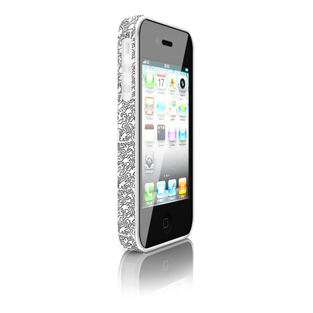 AppBankStore : 【iPhone4 バンパー】Keith Haring Collection Bunper for iPhone4 People White: COLORS: ケース
