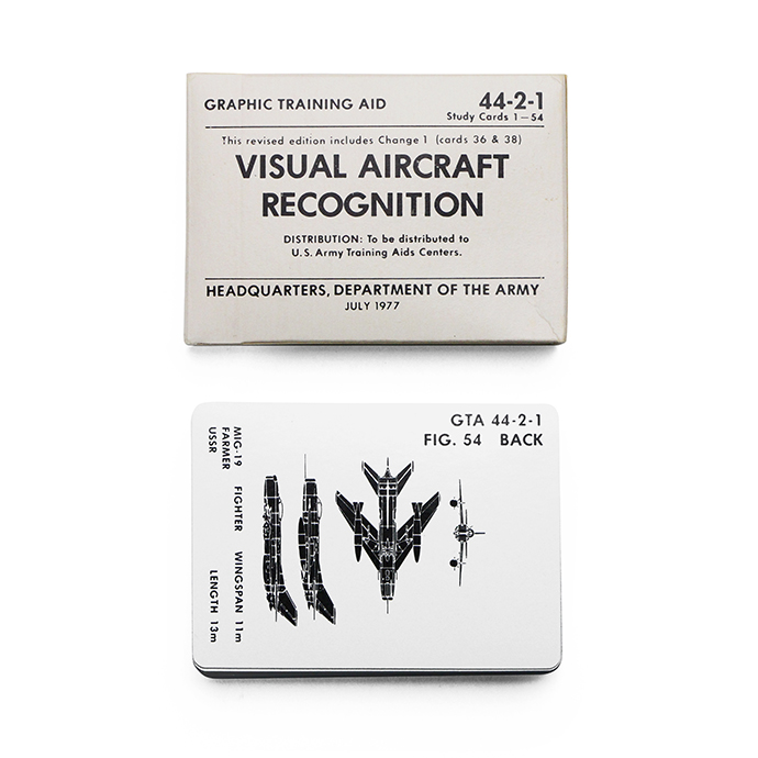 U.S.ARMY / Visual Aircraft Recognition Cards 航空機識別認識用カード - Eight Hundred Ships & Co.