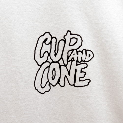 Logo L/S - White - cup and cone WEB STORE