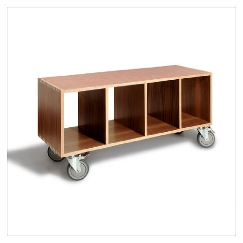 Amazon.com: BBox4 Full-Sized Stacking Shelf by Offi & Co., finish = Walnut; supports = Casters: Home & Kitchen