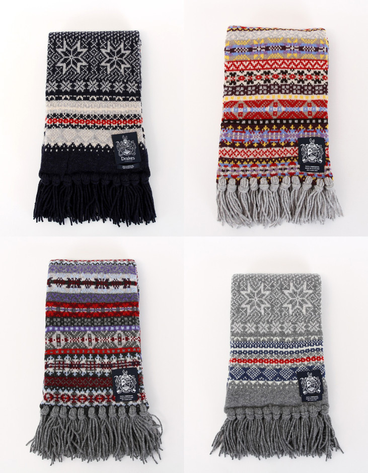 All sizes | DRAKES Lambswool Knit Patterned Scarfs | Flickr - Photo Sharing!