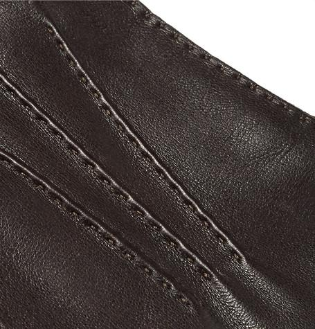 Loro Piana - Suede-Trimmed Leather Gloves