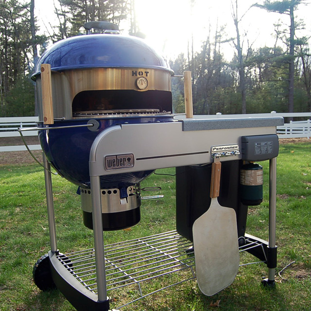 KettlePizza Basic 18.5 - Pizza Oven Kit for 22.5 Inch Kettle Grills. Made in USA