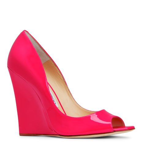 Jimmy Choo(2012SS) - Neon Color Wedge Peep Toe | RESTIR Online Boutique