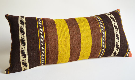 Sukan / Handwoven Vintage Wool Kilim Pillow Covers by sukan