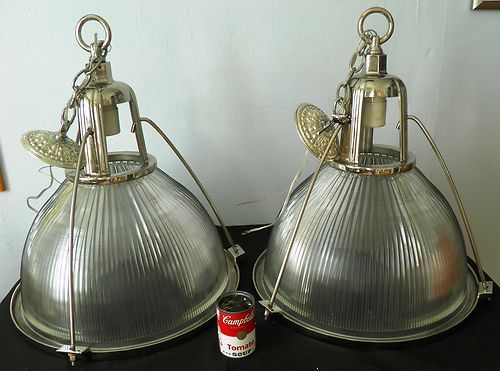 Pair of 1930's Holophane Industrial Ceiling Light's from Gates Rubber Co Fine   eBay