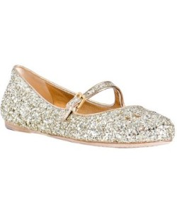 Miu Miu gold glitter leather mary-jane flats | review | Kaboodle