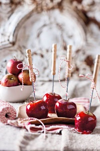 food / candied apples