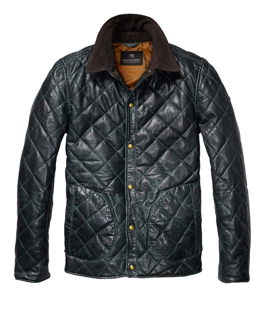 Leather Quilted Jacket > Mens Clothing > Jackets at Scotch & Soda