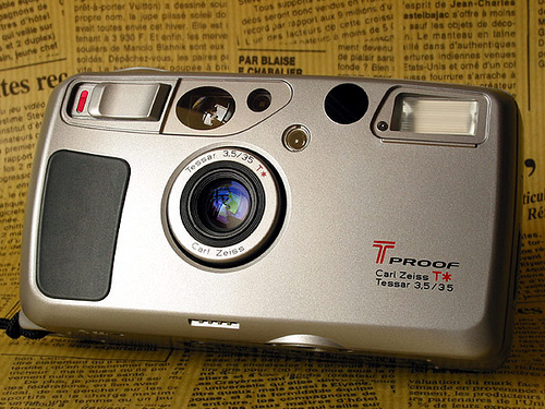 Kyocera T Proof = Yashica T4 Super | Flickr - Photo Sharing!
