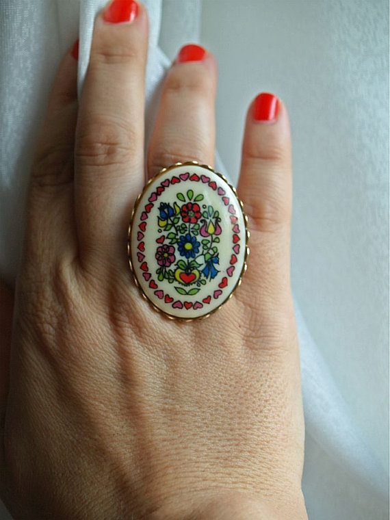 Colorful Adjustable Ring by gystefania on Etsy