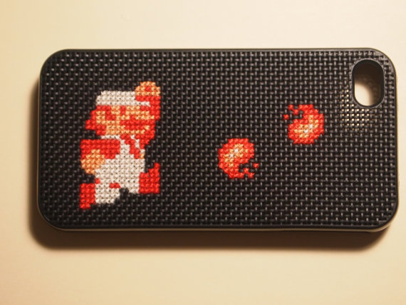 Fire Mario with Fireballs iPhone 4 or 4S Case by TechStitch
